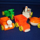 Vintage Fisher Price Little People 656 Little Riders 1976 Wagon Train Plane Riding Horse and More