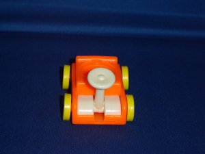 Vintage Fisher Price Little People 656 Play Family Little Riders Orange Wagon 1976