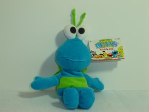 Rare 1997 New Jim Henson Muppets Sesame Street TWIDDLE BUG Plush Beanie 8 Inches W Tags Tyco