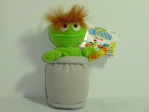 1997 New Jim Henson Muppets Sesame Street OSCAR THE GROUCH SLIMEY Plush Beanie 7 Inches W Tag Tyco