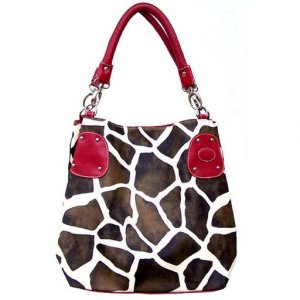 Giraffe Hobo Handbag (Red)