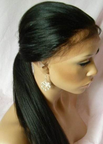 """Indian Remy Full Lace Wig-Silky straight 20"""""""