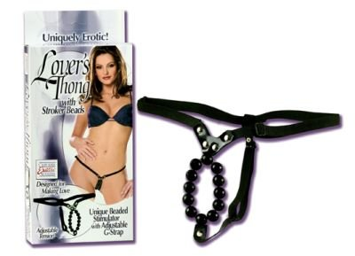 Lovers Thong w/ Stroker Beads