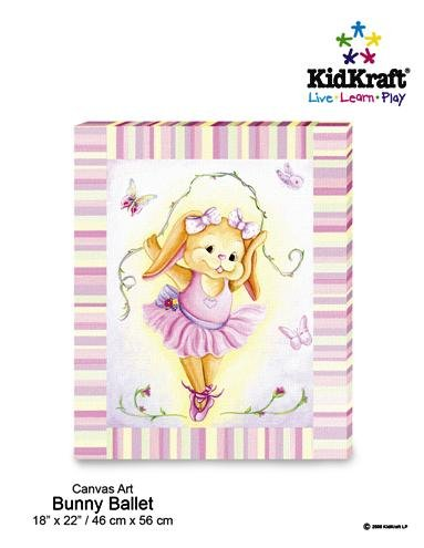 KidKraft Bunny Ballet Canvas Art Painting