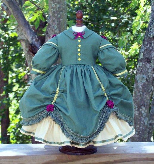 Civil War Era Day Dress for A Life of Faith & American Girl Dolls
