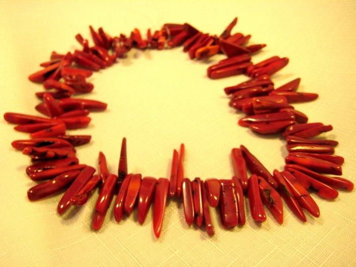 """Sponge Coral Banch 15.5"""" bracelet of Loose Beads"""