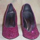 DANCIN' Fuschia Pink Glitter Pumps Sz 9
