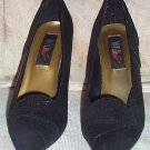 WILD PAIR Black Suede Pumps Sz 7