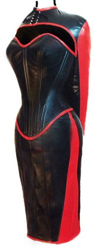 Lamb Leather Women Dress Armbinder Steel Bond Corset XL