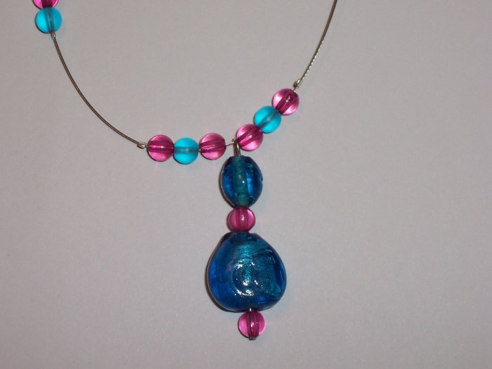 Pink and Blue Jewellery Set