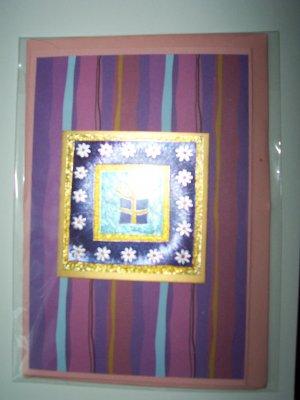 Purple gift greeting card