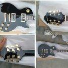 Myaxe Les Paul Custom Black Guitar Hand Built + Case and Ship