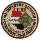 "4th Infantry Div OIF Steadfast & Loyal 4"" Patch"