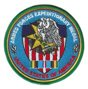 "Armed Forces Expeditionary Medal 4"" Patch USA"