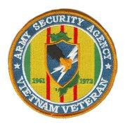 "Army security Agency Vietnam Veteran 4"" Patch 1961-1973"