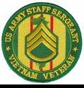 """US Army Staff Sergeant Vietnam Veteran 4"""" Patch"""