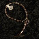 Purpel and white beaded bracelet