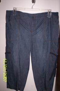 NWT Pair of Capri/Bermuda Pants DUO Maternity SIZE LG
