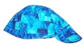Blue Abstract Welder Biker hat, your size