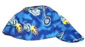 Blue Motorcycle Welder Biker hat, your size