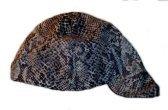 Snakeskin Print Welder Biker hat, your size