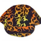 Yellow Flame Welder Biker hat, your size