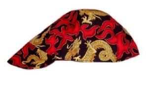 Red Flame Welder Biker hat, your size