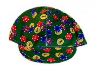 Green Poker Chips Welder Biker hat, your size