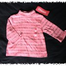 GYMBOREE Tyrolean Lure Pink Floral Lines TURTLENECK TOP - Size 3-6 months