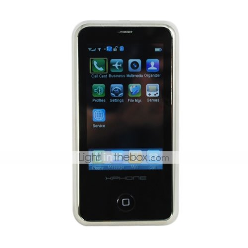 Unlocked XPhone Tri-band Dual Sim Card Cell Phone Blue (SZR089)