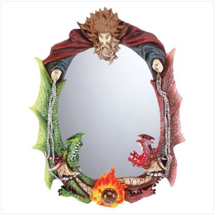 Wizard and Dragon Mirror
