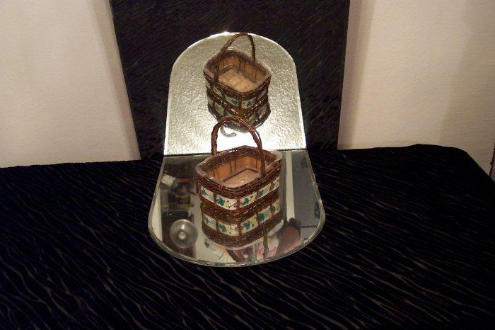 VINTAGE Basket with Plastic Liner *