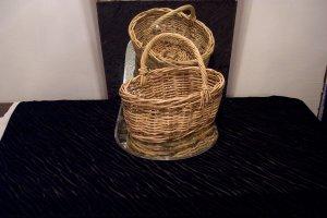 VINTAGE Large Handled Basket *