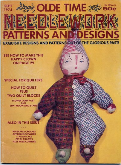 Olde Time Needlework Magazine September 1974 *