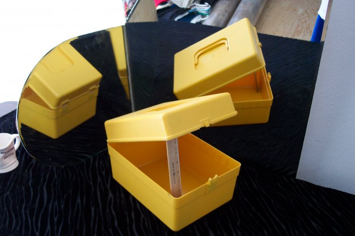 Yellow Plastic Sewing Container for Patterns