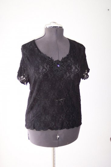Black Knit with Sequin Top *