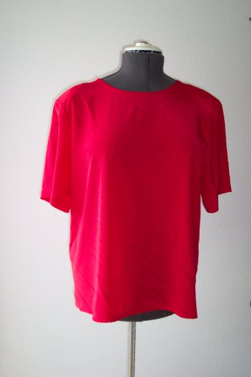 Red Satin type material Blouse *