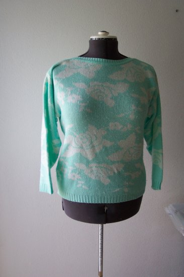 Green and White Sweater *