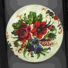 Flowered Fruit Cake Tin (medium) -- Vintage *