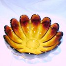 Tiara Glassware -- Amber Fluted Center Bowl
