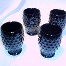 Tiara Glassware -- Black Hobnail Goblets