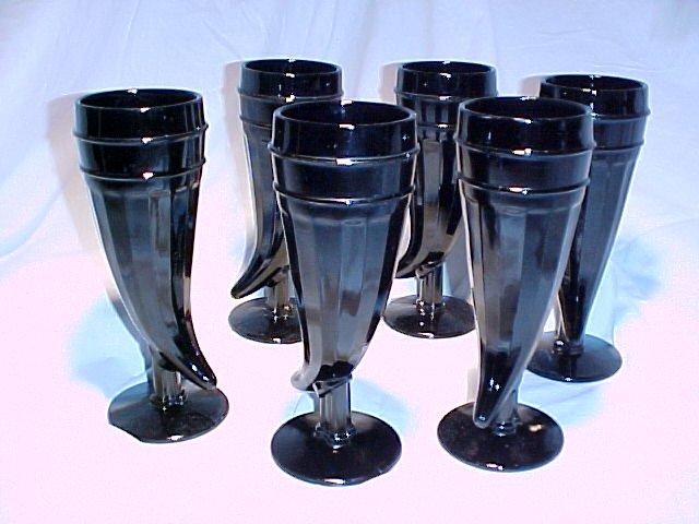 Tiara Glassware -- Black Powderhorn Tumblers (2 sets available)