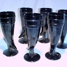 Tiara Glassware -- Black Powderhorn Tumblers (2 sets available)