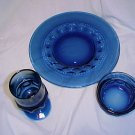 Tiara Glassware -- Crown 3 piece Table setting