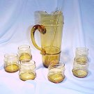 Tiara Glassware -- Amber Martini Set