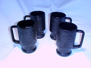 Tiara Glassware -- Black Mystique handled Coolers -- Set of 4 (2 available)