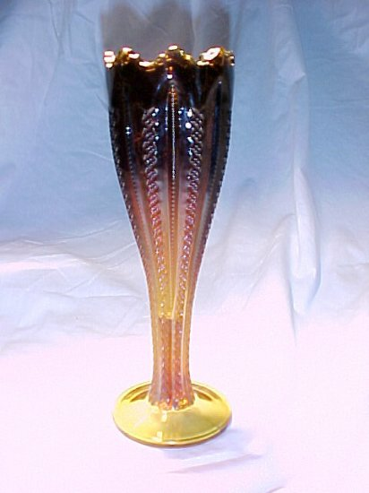 Tiara Glassware -- Ribbon Vase (2 available)