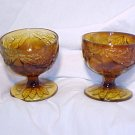 Tiara Glassware -- Sweet Pear Set of 2 Sherbert Dishes