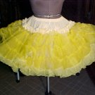 Square Dance -- Bright Yellow Petticoat -- very full -- Raver; Punk; and Harijuku *