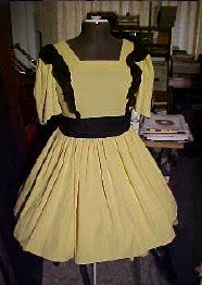 Yellow with Black Ruffle Square Dance Dress *